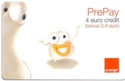 Cartela prepay Orange 4 Eur